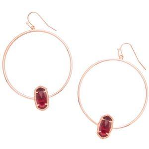 Kendra Scott • Berry Clear Elora Hoop Earrings